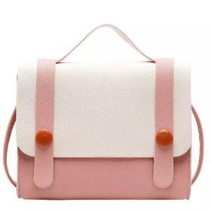 Pink & White Harajuku Crossbody Bag or Clutch